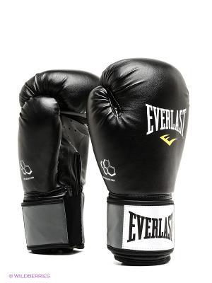 Перчатки тренировочные Molded Foam 14oz Everlast. Цвет: черный