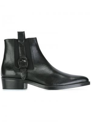 Ботинки Челси с ремешками Toga Virilis. Цвет: чёрный