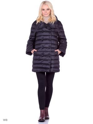 Стеганое пальто Trussardi. Цвет: черный