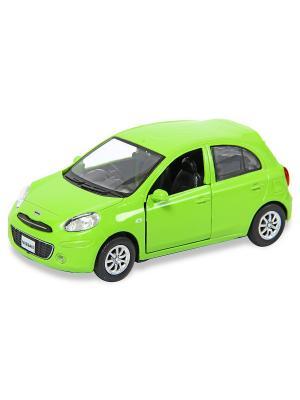 Машина металлическая Nissan March, 1:32. HOFFMANN. Цвет: салатовый