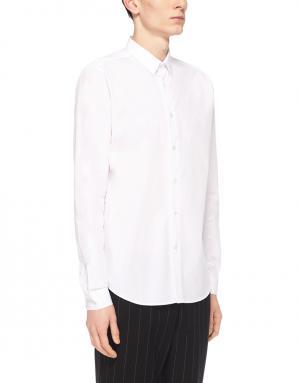 Хлопковая рубашка Ami. Цвет: белый