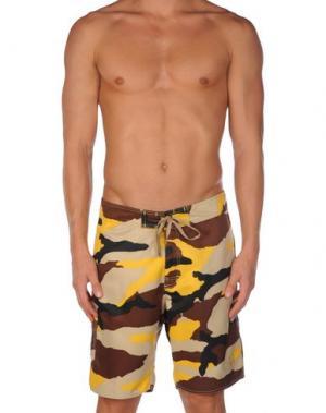 Пляжные брюки и шорты STUSSY. Цвет: бежевый