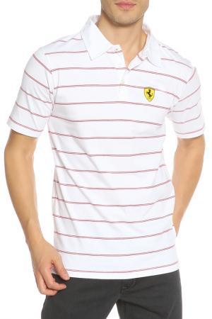 Поло Ferrari. Цвет: белый