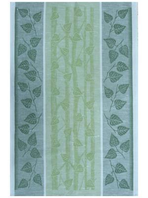 Полотенце Березовое Белорусский Лен. Цвет: зеленый,темно-зеленый,серо-зеленый