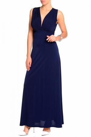 Платье макси-луч Alina Assi. Цвет: темно-синий