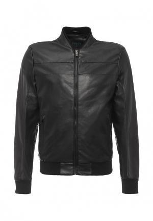Куртка кожаная Forex. Цвет: черный