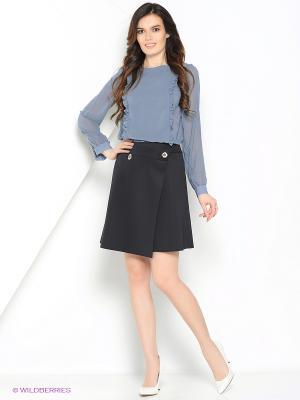 Блузка SEVONA. Цвет: темно-серый