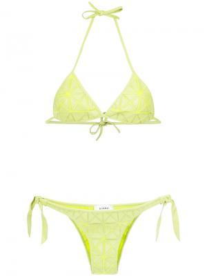 Patchwork bikini set Amir Slama. Цвет: зелёный