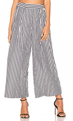 Полосатые брюки KENDALL + KYLIE. Цвет: black & white