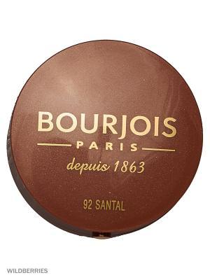 Румяна blush, 92 тон Bourjois. Цвет: светло-желтый