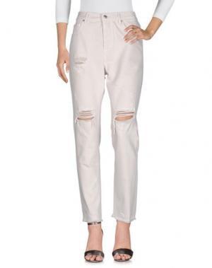 Джинсовые брюки GOTHA. Цвет: бежевый
