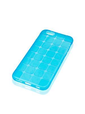 Силиконовый чехол Brosco Mesh для Apple Iphone 6 / 6S Rosco. Цвет: синий