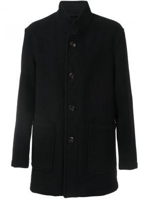 Пальто с воротником-стойкой Lemaire. Цвет: чёрный