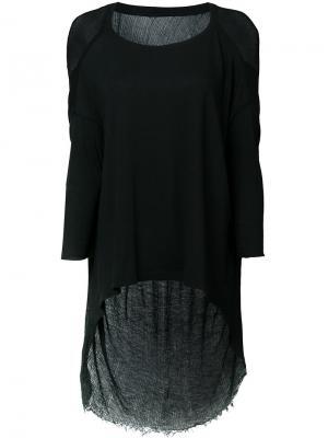 Асимметричная блузка Raquel Allegra. Цвет: чёрный