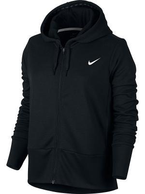 Толстовка W NK DRY HOODIE FZ Nike. Цвет: черный, белый