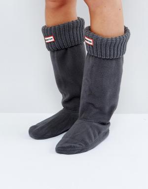Hunter Серые толстые носки. Цвет: серый