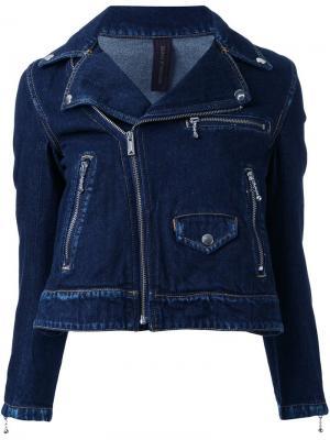 Джинсовая куртка Maison Mihara Yasuhiro. Цвет: синий