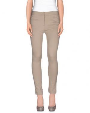 Повседневные брюки AGATHA CRI. Цвет: голубиный серый