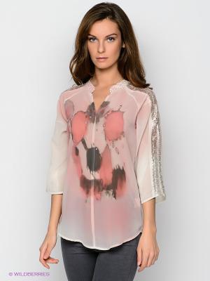 Блузка Cream. Цвет: розовый, бежевый, серый