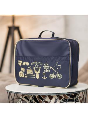Органайзер для одежды Hipster Style Premium Homsu. Цвет: темно-синий, бежевый