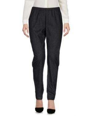 Повседневные брюки MARIA CALDERARA. Цвет: стальной серый