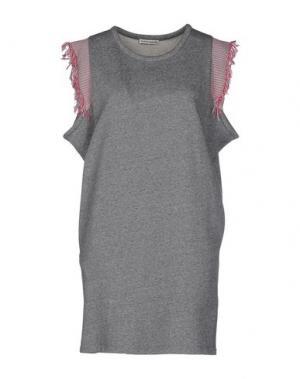 Короткое платье MARTA MARTINO. Цвет: серый