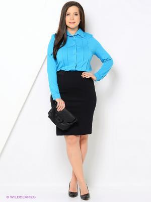 Блузка Lina. Цвет: голубой
