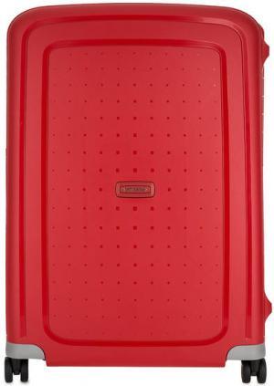 Пластиковый чемодан на защелках Samsonite. Цвет: красный