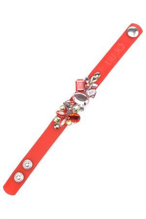 Браслет LIU-JO. Цвет: красный
