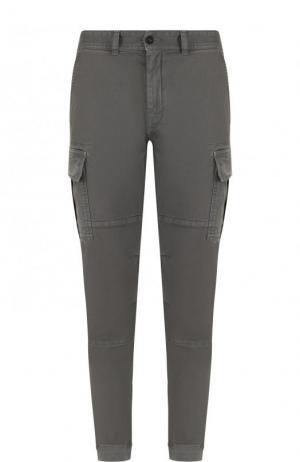 Хлопковые брюки-карго Belstaff. Цвет: серый