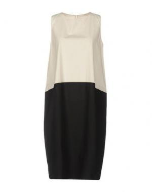 Короткое платье A.B APUNTOB. Цвет: слоновая кость