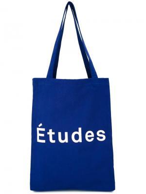 Сумка-тоут с принтом Études. Цвет: синий