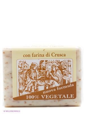 Натуральное глицериновое мыло с  отрубями, 150 гр Iteritalia. Цвет: кремовый