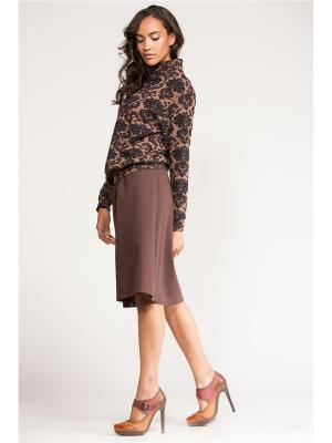 Костюм с юбкой Vittoria Vicci. Цвет: коричневый