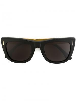 Солнцезащитные очки Gals Francis Goffrato Retrosuperfuture. Цвет: чёрный