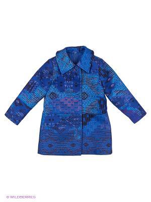Пальто Милашка Сьюзи. Цвет: синий