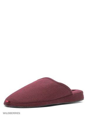 Тапочки De Fonseca. Цвет: бордовый