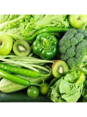 Картина Зеленые овощи и фрукты Ecoramka. Цвет: зеленый, салатовый, светло-зеленый