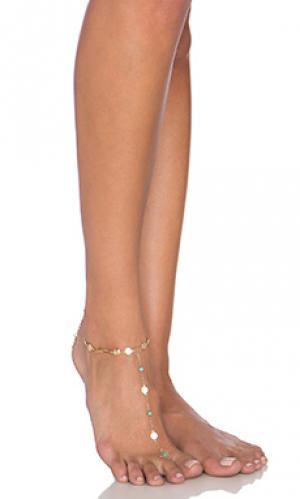 Цепочка на ногу Ettika. Цвет: металлический золотой