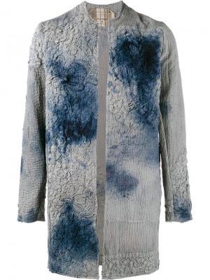 Жакет с вышивкой By Walid. Цвет: серый