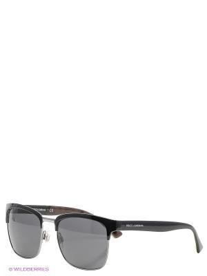 Очки солнцезащитные DOLCE & GABBANA. Цвет: черный, антрацитовый, темно-зеленый