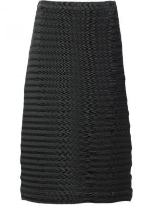 Плиссированная юбка Issey Miyake. Цвет: зелёный