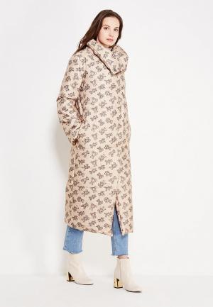 Куртка утепленная TrendyAngel. Цвет: бежевый