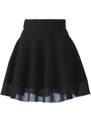 Расклешенная юбка в складку Piccione.Piccione. Цвет: чёрный