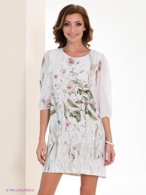 Платье Dino Chizari. Цвет: молочный, светло-зеленый