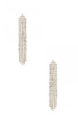 Серьги с кристаллом ciara Amber Sceats. Цвет: металлический серебряный