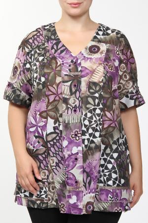 Рубашка Terra. Цвет: сиреневый