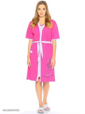 Комплект женский lawiggi. Цвет: розовый, серый