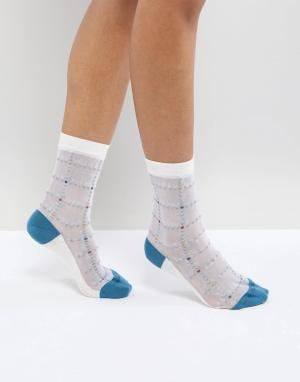 PS Paul Smith Полупрозрачные носки в полоску by. Цвет: белый