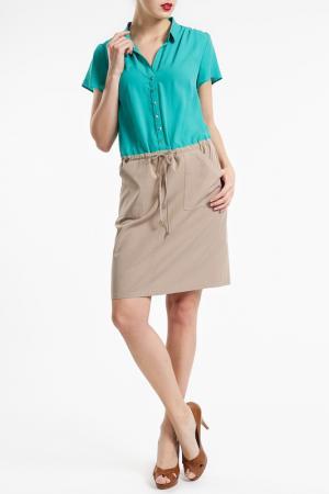 Платье Basler. Цвет: бирюзовый и телесный